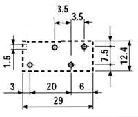 Przekaźnik Finder 40.31- wymiary