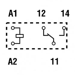 Przekaźniki Finder 40.31_schemat
