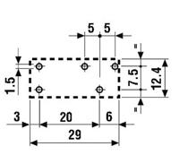 Przekaźnik Finder 40.51- wymiary