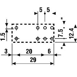 Przekaźnik Finder 40.61- wymiary