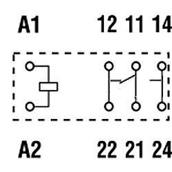 Przekaźniki Finder 40.61_schemat