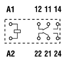 Przekaźniki Finder 40.52_schemat