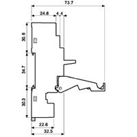 Gniazdo Finder 95.55_wymiary