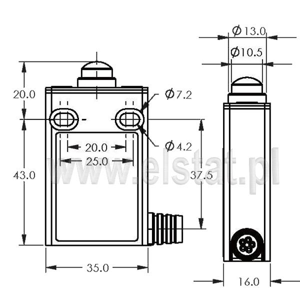 Wyłączniki krańcowe EFM-L-3-31 montaż