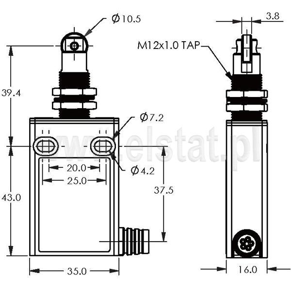 Wyłączniki krańcowe EFM-L-3-52 montaż