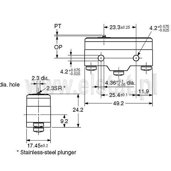 Wyłączniki krańcowe Z15G1308