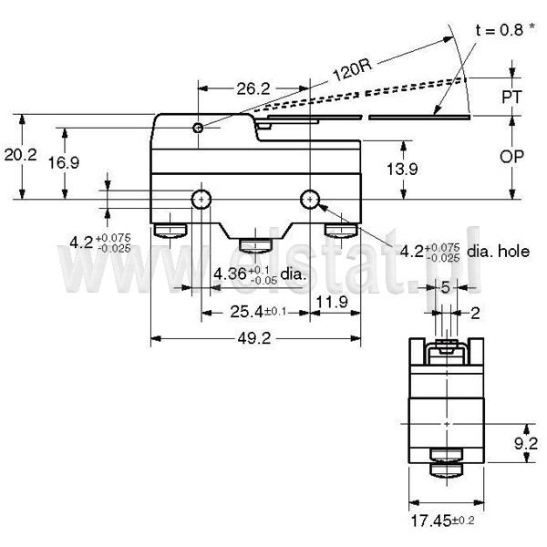 Wyłšczniki krańcowe Z15HW24-B_wymiary