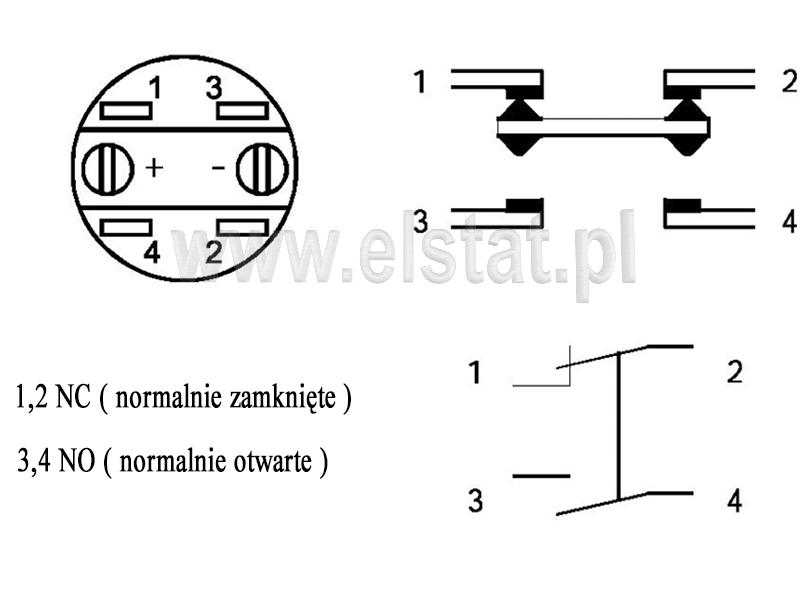 Schemat elektryczny przycisku LAS1