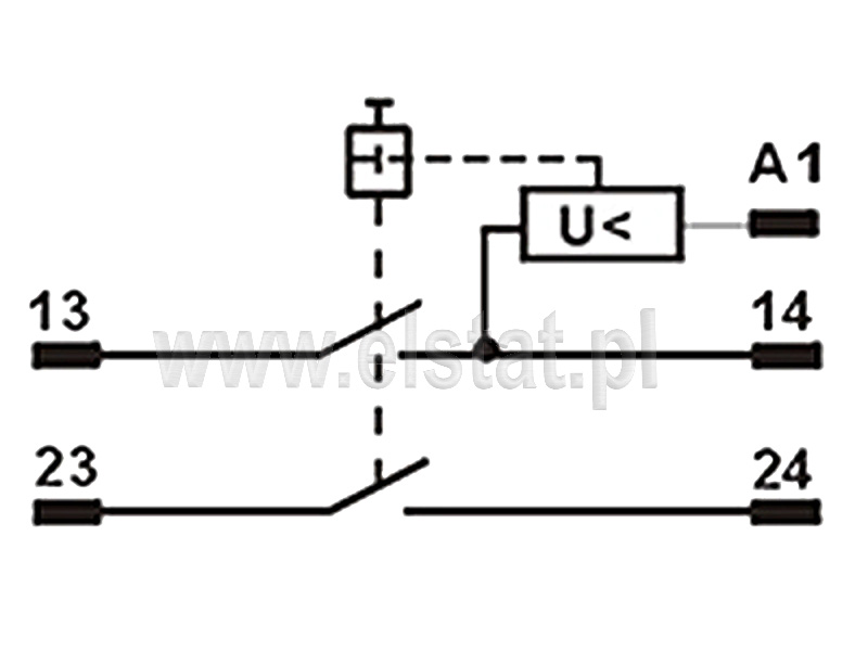 Schemat połączenia wyłacznika elektromagnetycznego 5 pinowego